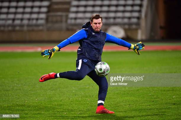 Paris FC goalkeeping coach Mickael Boully during the Ligue 2 match between Paris FC and RC Lens at Stade Charlety on December 8 2017 in Paris France