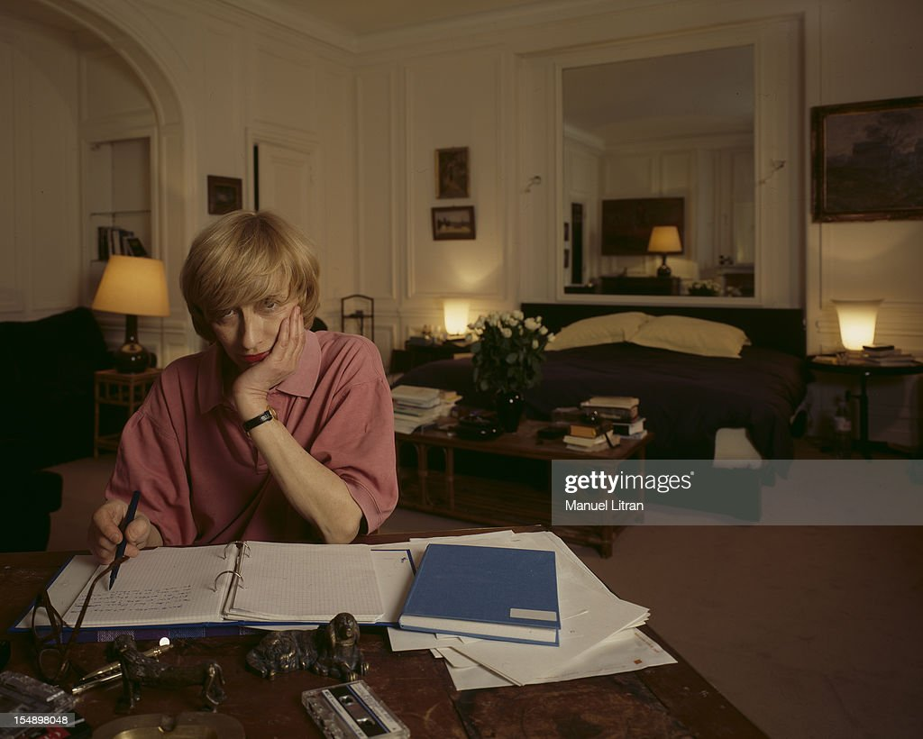 Paris February 11 1987 Francoise Sagan In The Living Room Of Her New