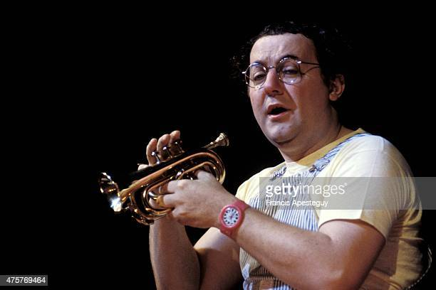 Paris France 16 March 1981 French comedian Coluche performing