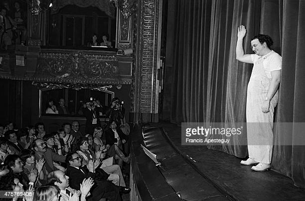 Paris France 16 March 1981French comedian Coluche performing
