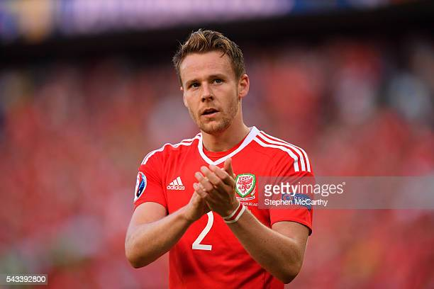 Paris France 25 June 2016 Chris Gunter of Wales during the UEFA Euro 2016 Round of 16 match between Wales and Northern Ireland at Parc de Princes in...