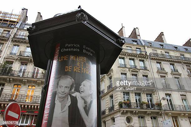 A picture taken 05 January 2006 in Paris shows a Morris column displaying a theater poster Two hundred Parisian Morris columns are to 'disappear'...