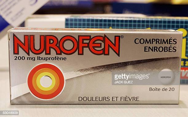 A picture taken 10 June 2005 in Paris of a Nurofen box one of commonly used painkillers medecines based on Ibuprofen an antiinflammatory drug New...