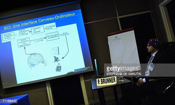 American scientist Peter Brunner of the Laboratory of Cognitive Sciences Wadsworth Center of Albany New York presents the Brain Computer Interface...