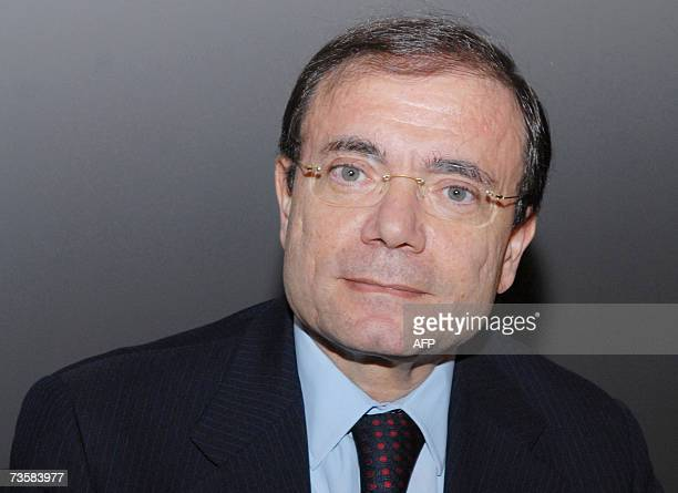 Casino CEO JeanCharles Naouri poses before holding a press conference announcing the 2006 financial results of a chain of retail outlets in France...