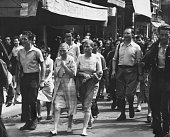 European HistoryWorld War II Women collaborators marched down the streets of Paris by French patriots They are half naked barefooted have swastikas...