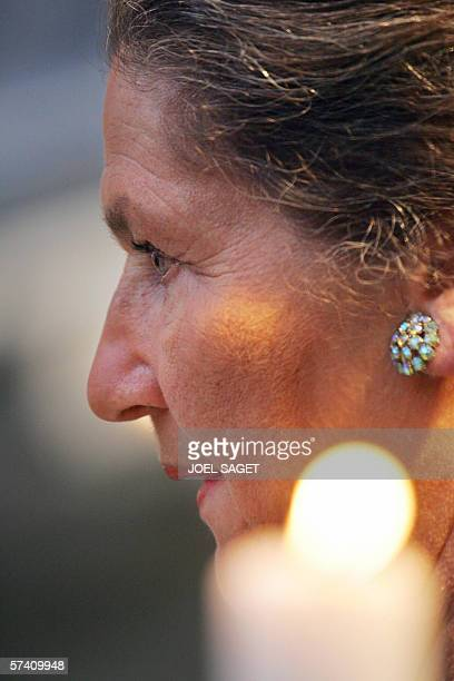 Former Auschwitz prisoner and former French Health Minister Simone Veil attends a ceremony commemorating the 76000 Jewish victims sent from France to...