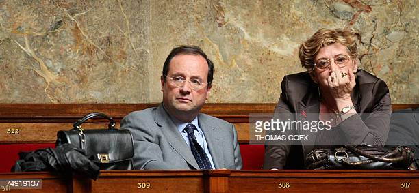 French Socialist Party first secretarty and deputy Francois Hollande attends the opening session of the French National Assembly 26 June 2007 in...