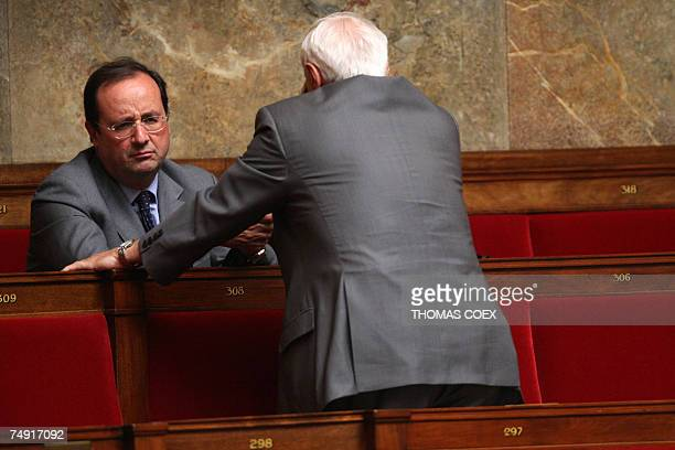 French Socialist Party first secretary and deputy Francois Hollande attends the opening session of the newelected National Assembly 26 June 2007 in...