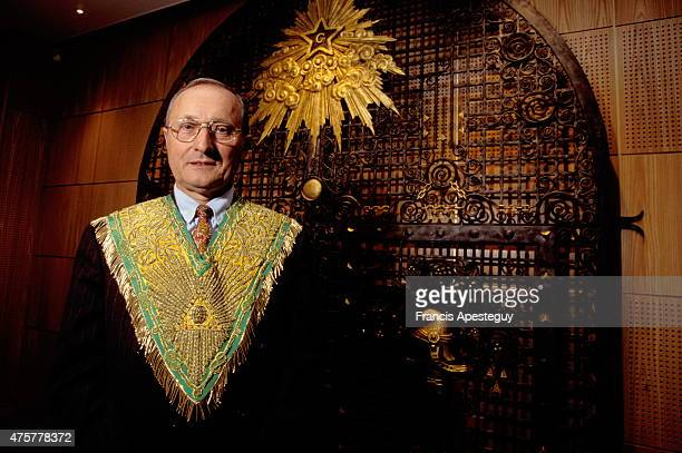 Paris France Jacques Lafonge when he was the Grand Master of the Grand Lodge of France
