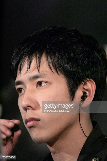 Japanese actor Kazunari Ninomiya gives a press conference in Paris 14 February 2007 prior to the release in France of the movie 'Letters from Iwo...