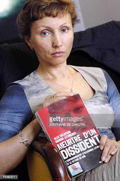 Marina Litvinenko the wife of Russian late exspy Alexander Litvinenko presents 31 May 2007 in Paris the book titled 'Meutre d'un dissident' she wrote...