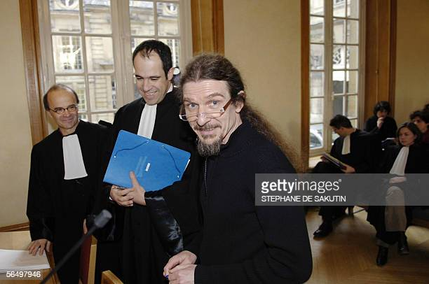 Michel Parigot Andeva's vicepresident Michel Ledoux Andeva's lawyer and Francois Lafforgue Greenpeace's lawyer wait for the start of the audience at...