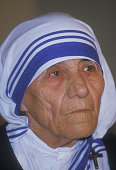 Paris France Mother Teresa of Calcutta in Paris for a Human RIghts symposium Mother Teresa was born Agnes Gonxha Bojaxhiu in Skopje Macedonia She...