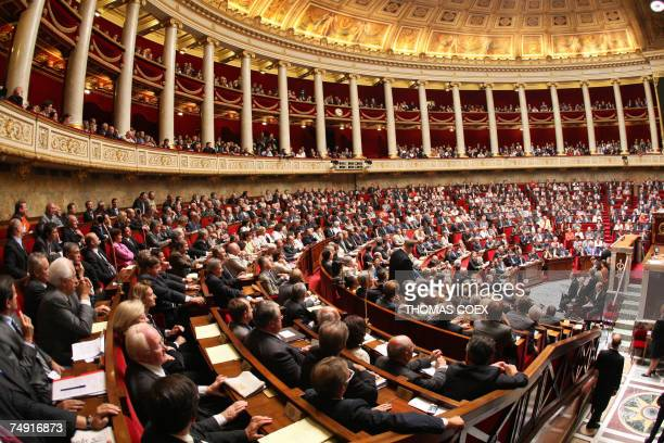 Newelected deputies attend the opening session of the French newelected National Assembly 26 June 2007 in Paris French lawmakers returned to the...