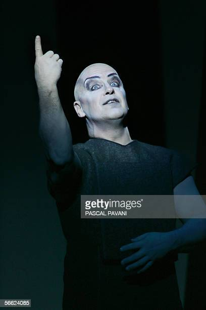 Opera singer Volker Vogel as Mime performs 18 January 2006 in the first act of Richard Wagner's 'Siegfried' on the stage of the Chatelet theater in...