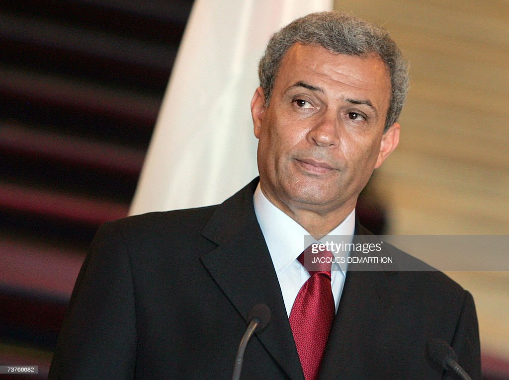 Palestinian foreign minister Ziad Abu Amr attends a joint press conference with French Foreign Minister Philippe Douste-Blazy (not pictured) after talks at the Quai d'Orsay in Paris 02 April 2007. Ziad Abu Amr arrived in Paris yesterday on his first visit to a European capital since a unity cabinet was sworn in two weeks ago, brightening prospects for a resumption of aid.
