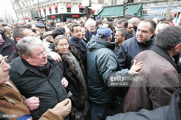 Politicans among them French Interior Minister Nicolas Sarkozy and French former Prime Minister Socialist Lionel Jospin and former Minister Simone...