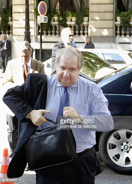 Russia's Foreign Deputy Minister Serguei Kislyak arrives 02 May 2006 in Paris for a highlevel meeting of the five permanent UN Security Council...