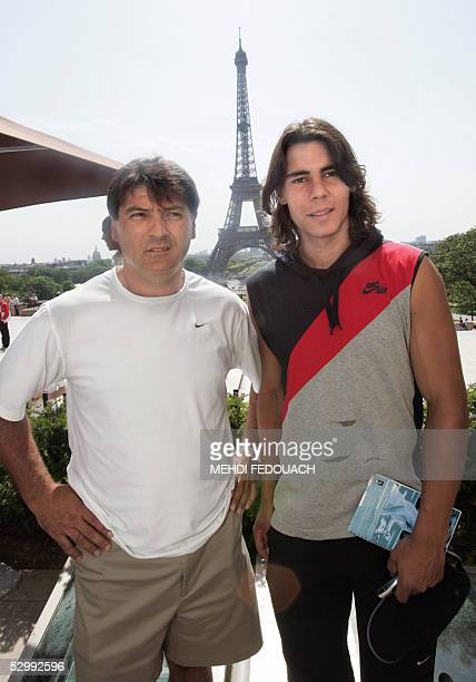 Spain's Rafael Nadal who won the battle of the boywonders in the French Open yesterday despatching home hope Richard Gasquet of France and his coach...