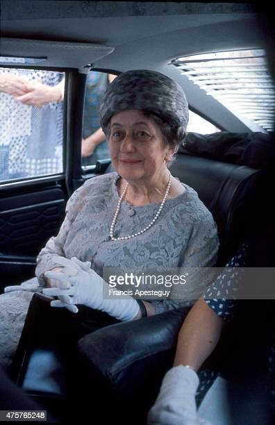 Paris France Yvonne de Gaulle wife of French president Charles de Gaulle and former first lady of France