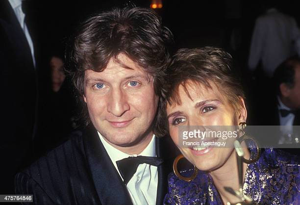 Paris France18/12/90Patrick Sebastien with his wife at the Sept d'Or Gala in Paris