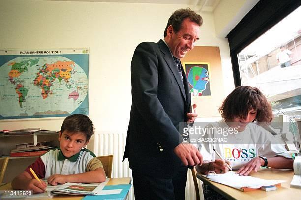 Paris Francois Bayrou Of The School Year In The Hospital Robert Debre On September 3rd 1996 In Paris France