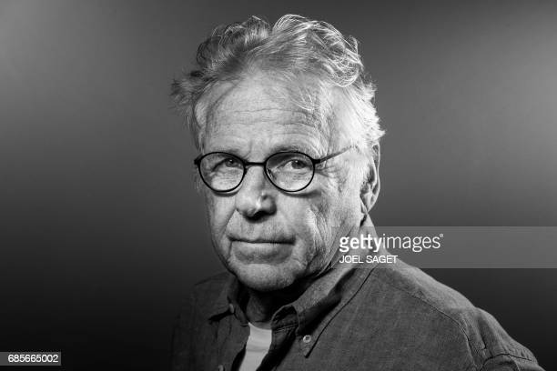 French and German former European parliamentarian and ecologist Daniel CohnBendit poses during a photo session in Paris on May 8 2017 Black and white...