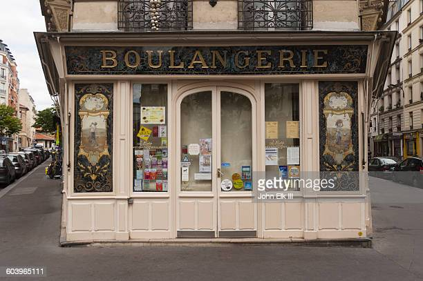 Paris, French boulangerie bakery facade