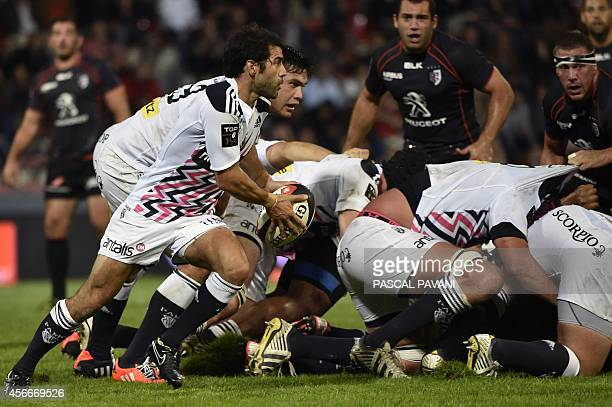 Paris' French scrumhalf Jerome Fillol in action during the French Top 14 rugby union match between Toulouse and Stade Francais Paris at the...