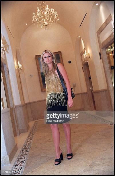 Paris Hilton a year older than screen legend Elizabeth Taylor when Elizabeth married Paris'' grandfather Conrad 'Nicky' Hilton Jr poses in Las Vegas...