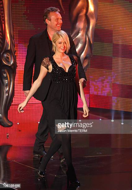 Paris Hilton and actor Anthony Head during the 2007 Spike TV Scream Awards at The Greek Theater on October 19 2007 in Los Angeles California