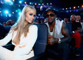 Paris Hilton and athlete DeSean Jackson attend the BET AWARDS '14 at Nokia Theatre LA LIVE on June 29 2014 in Los Angeles California