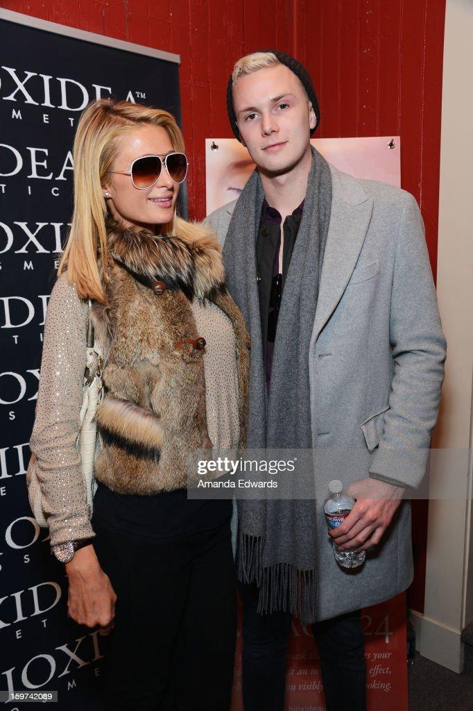 Paris Hilton and Barron Hilton II attend Day 2 of the Kari Feinstein Style Lounge on January 19, 2013 in Park City, Utah.