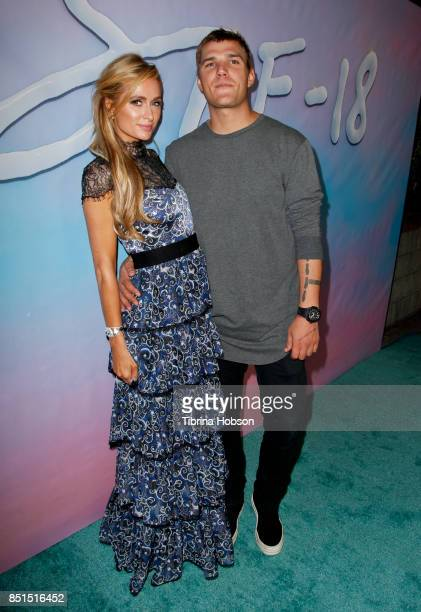 Paris Hilton and Chris Zylka attend the premiere of 'SPF18' at University High School on September 21 2017 in Los Angeles California