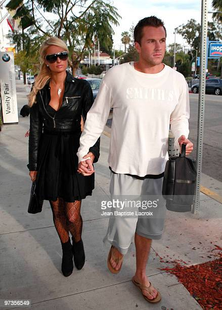 Paris Hilton and Doug Reinhardt are seen in West Hollywood on March 1 2010 in Los Angeles California