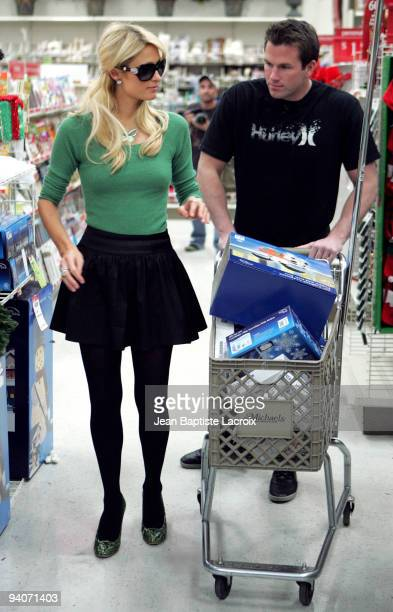 Paris Hilton and Doug Reinhardt are seen shopping at Michaels on December 4 2009 in Los Angeles California