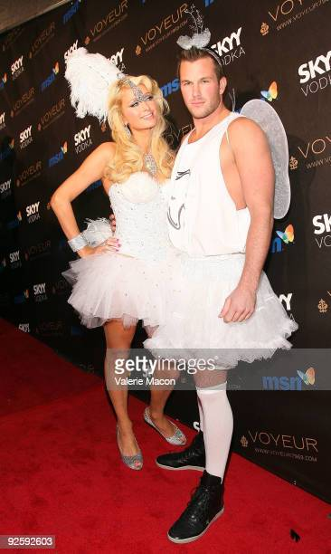 Paris Hilton and Doug Reinhardt arrive at the Heidi Klum's 10th Annual Halloween Party on October 31 2009 in Los Angeles California