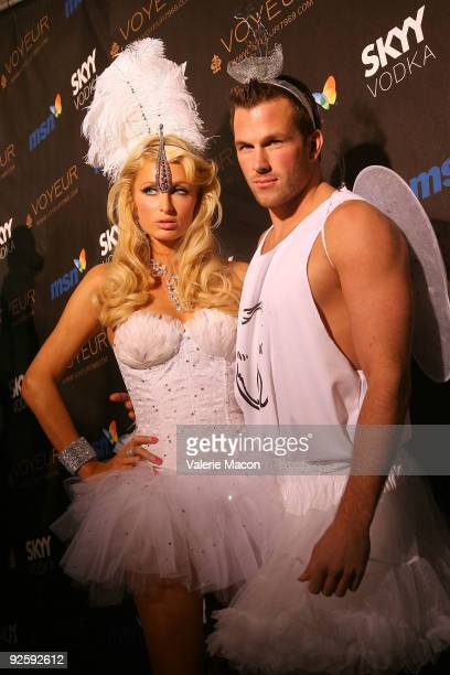 Paris Hilton and Doug Reinhardt arrive at the Heidi Klum's 10th Annual Halloween Party on October 31 2009 in Los Angeles California