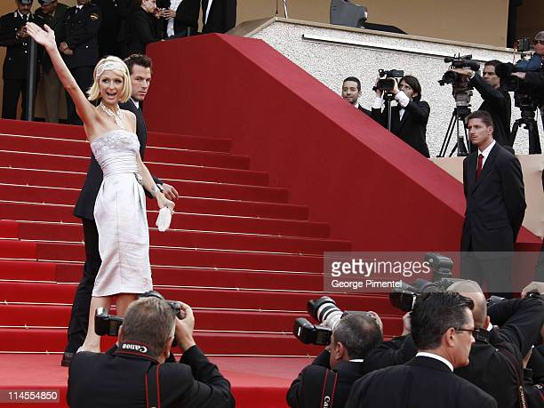 Paris Hilton and Doug Reinhardt attend the 'Inglourious Basterds' Premiere at the Grand Theatre Lumiere during the 62nd Annual Cannes Film Festival...