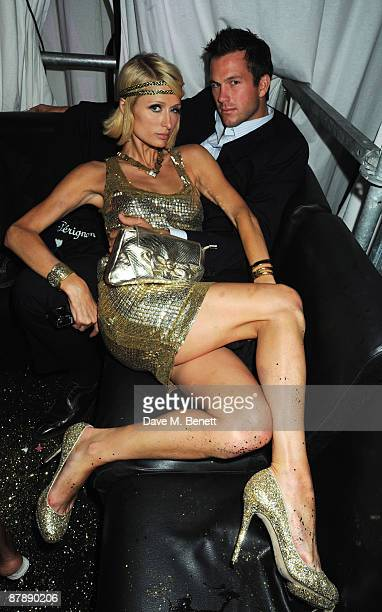 Paris Hilton and Doug Reinherdt attend the party to celebrate her week during the 62nd International Cannes Film Festival at the Jalouse Club on May...