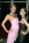 Paris Hilton and Elisha Cuthbert during 'House of Wax' London Premiere After Party at The Penthouse Leicester Square in London Great Britain