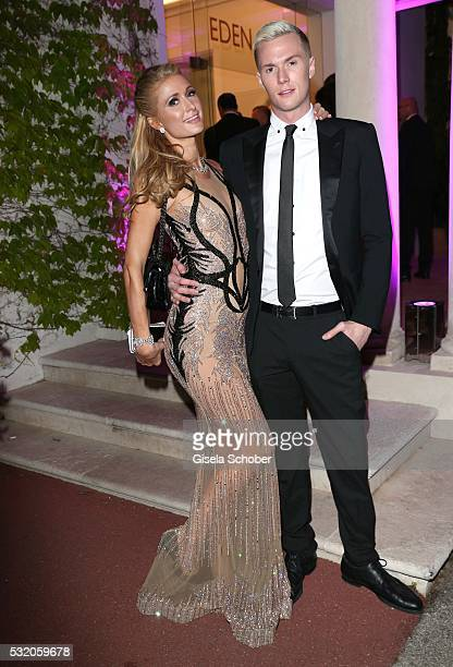 Paris Hilton and her brother Barron Hilton attend the 'De Grisogono' Party at the annual 69th Cannes Film Festival at Hotel du CapEdenRoc on May 17...