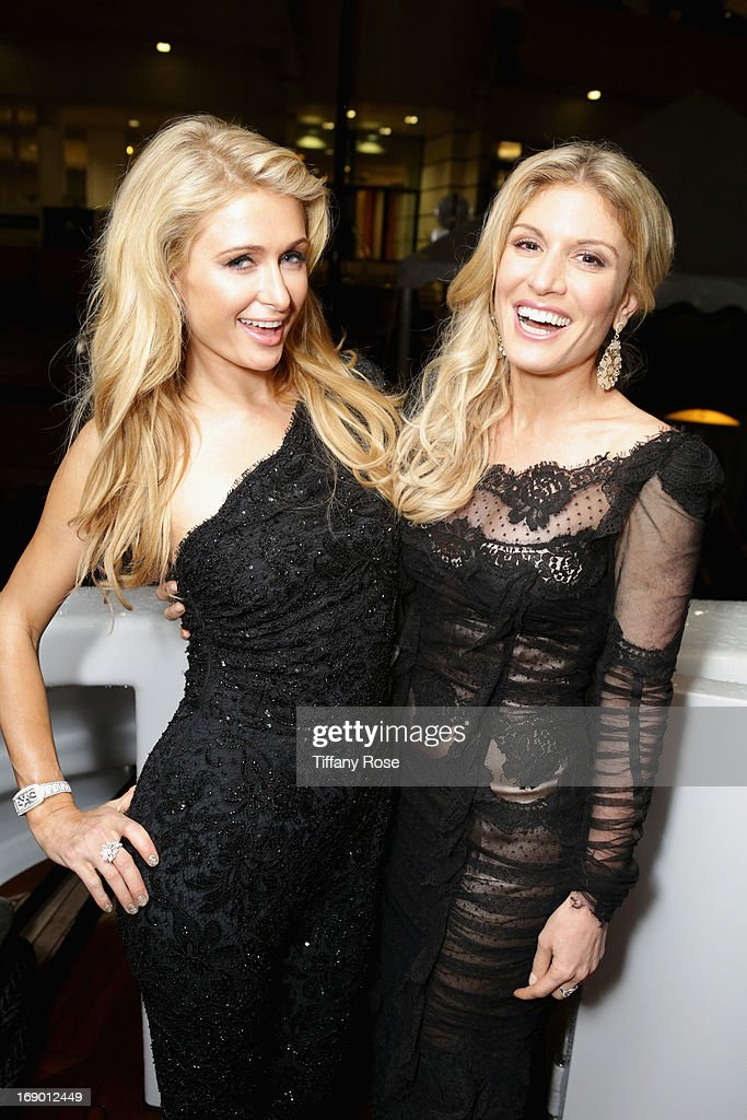 <a gi-track='captionPersonalityLinkClicked' href=/galleries/search?phrase=Paris+Hilton&family=editorial&specificpeople=171761 ng-click='$event.stopPropagation()'>Paris Hilton</a> and <a gi-track='captionPersonalityLinkClicked' href=/galleries/search?phrase=Hofit+Golan&family=editorial&specificpeople=542603 ng-click='$event.stopPropagation()'>Hofit Golan</a> attend the Zero Theorem Party Hosted by Terry Gilliam The 66th Annual Cannes Film Festival at Torch at Vegaluna Beach Club on May 18, 2013 in Cannes, France.