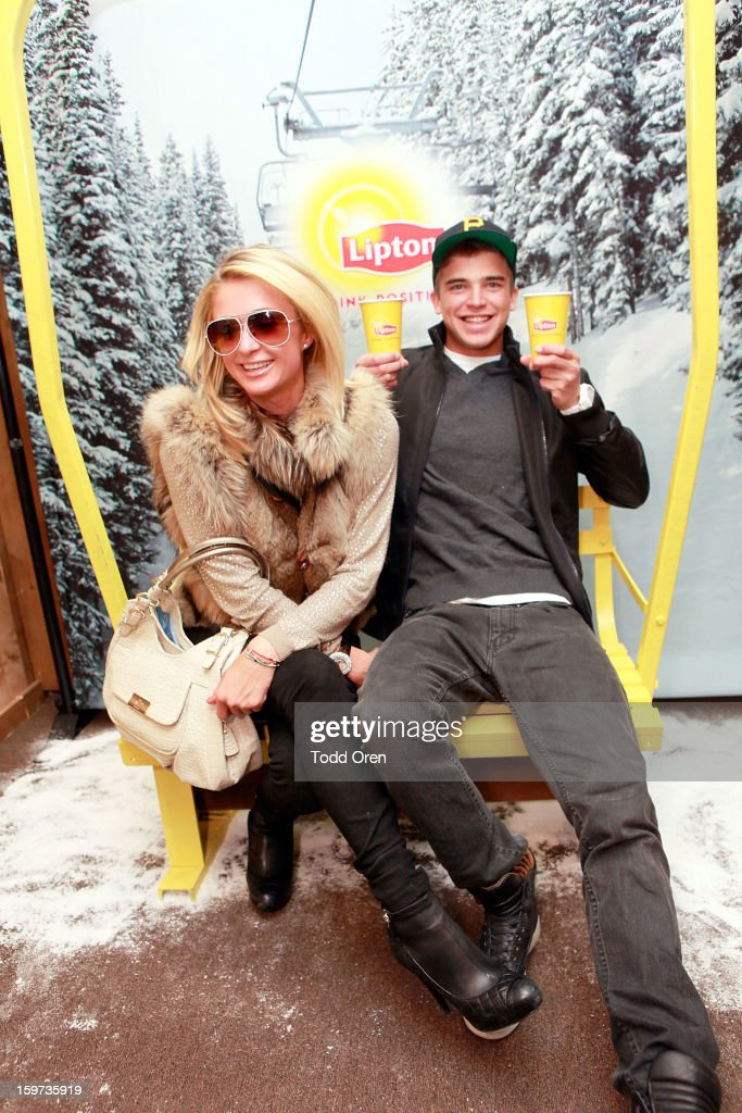 Paris Hilton and model River Viiperi attend Day 2 of Sears Shop Your Way Digital Recharge Lounge on January 19, 2013 in Park City, Utah.
