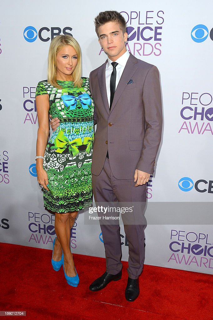 Paris Hilton and model River Viiperi attend the 39th Annual People's Choice Awards at Nokia Theatre L.A. Live on January 9, 2013 in Los Angeles, California.