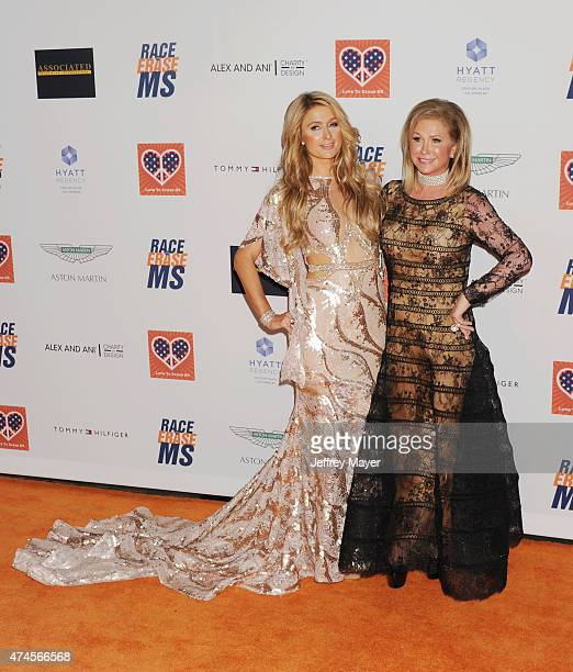 Paris Hilton and mother Kathy Hilton arrive at the 22nd Annual Race To Erase MS at the Hyatt Regency Century Plaza on April 24 2015 in Century City...