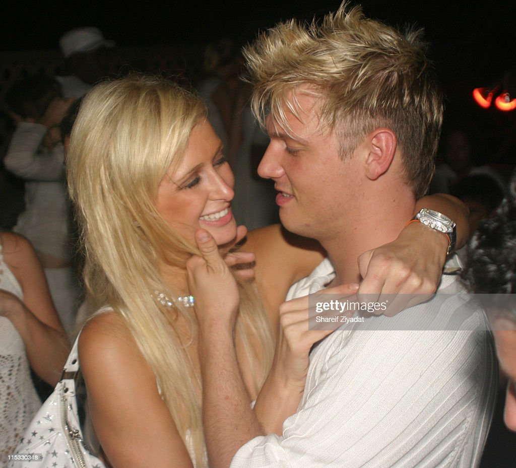Paris Hilton and Nick Carter during PS2 Estate Day 3 6th Annual P Diddy White Party at PS2 Estate in Bridgehampton New York United States