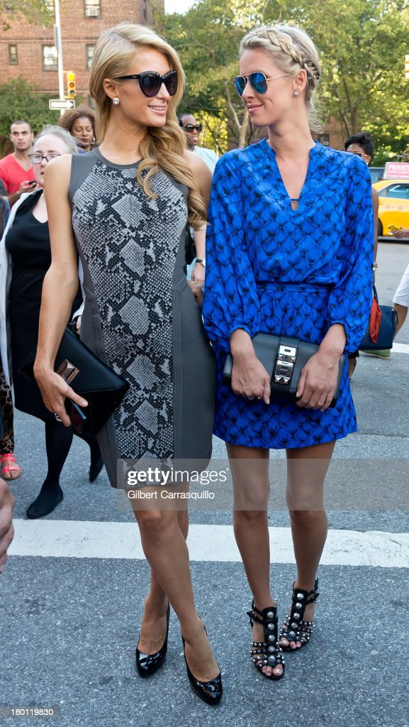 Paris Hilton and Nicky Hilton attend 2014 Mercedes-Benz Fashion Week during day 4 on September 8, 2013 in New York City.