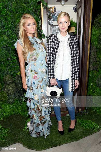 Paris Hilton and Nicky Hilton attend Alice Olivia By Stacey Bendet fashion show during September 2017 New York Fashion Week The Shows at Gallery 2...